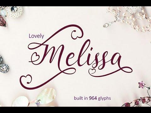 Accessing lovely melissa font glyphs