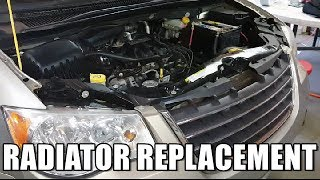 Radiator Removal 2008-2016 Chrysler Town & Country