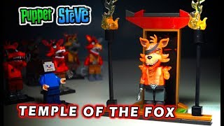 FNAF McFarlane Toys TEMPLE OF THE FOX & SAMURAI FOXY Stop Motion Construction Set Unboxing