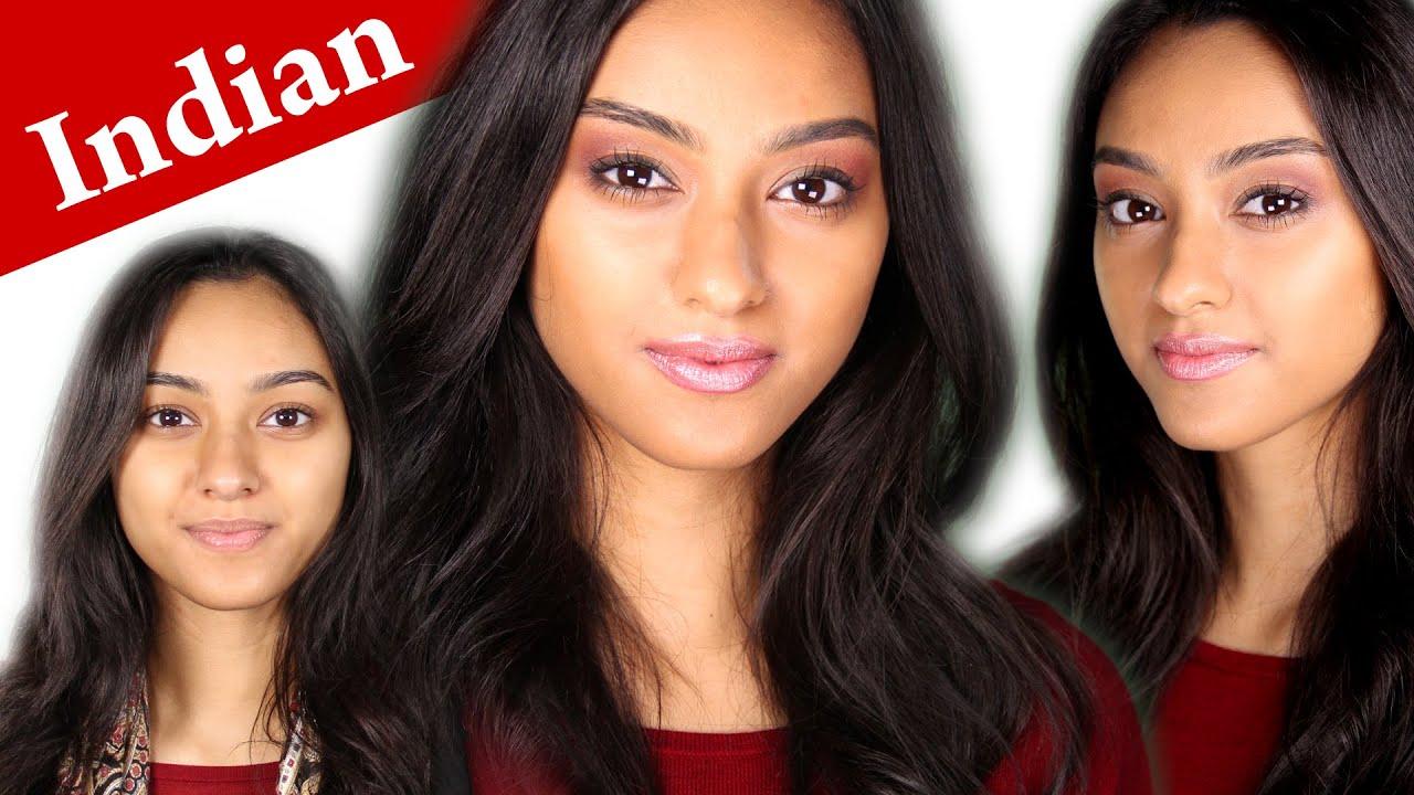 How To Apply Makeup On Darker Indian Skin Tone Rosie Huntington Whiteley  Tutorial  Youtube