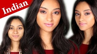 How to apply makeup on darker INDIAN skin tone ROSIE HUNTINGTON WHITELEY tutorial Thumbnail