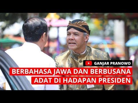 Kenakan Baju Adat Dan Berbahasa Jawa Saat Dampingi Jokowi
