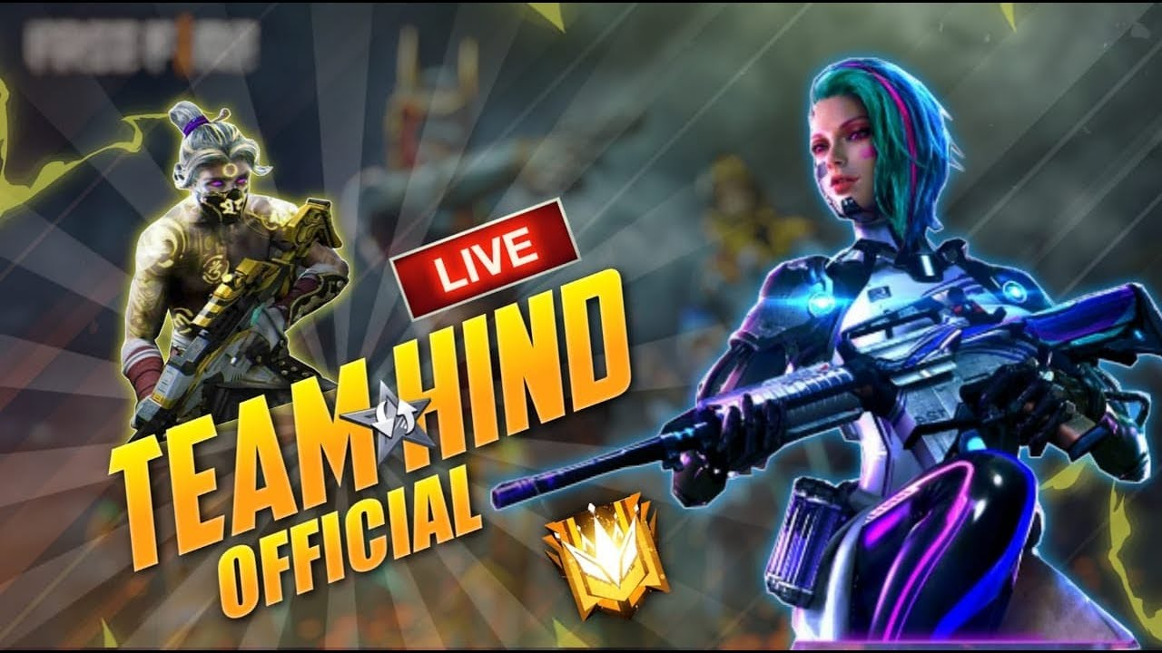 🔴💥 TEAM HIND   Free Fire Live - Solo, Duo Rank Push to Heroi 🔥😍😍