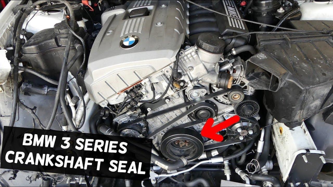 2007 Bmw Engine Diagram Bmw E90 Front Crankshaft Seal E91 E92 E93 Location Youtube