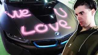 One of Christian Delgrosso 2's most viewed videos: FANS SPRAY PAINTED MY BMW i8!