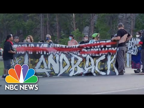 Protesters Near Mount Rushmore Clash With Police, Trump Supporters | NBC News