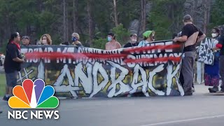 Protesters Near Mount Rushmore Clash With Police, Trump Supporters   NBC News