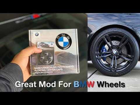 The Best Mod For Your BMW Wheels : Floating Center Caps And M Valve Stems