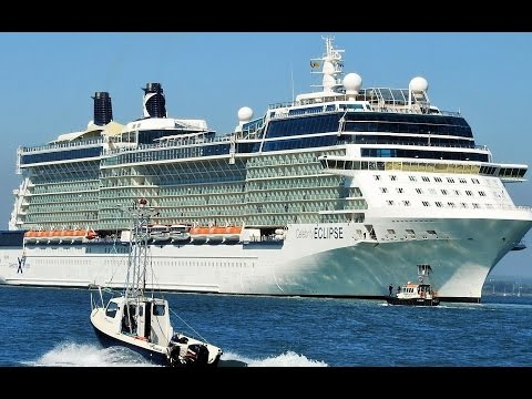 Celebrity Eclipse arriving in Dublin Port 2017