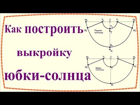 Как построить выкройку юбки солнце / How To Make A Circle Skirt Pattern