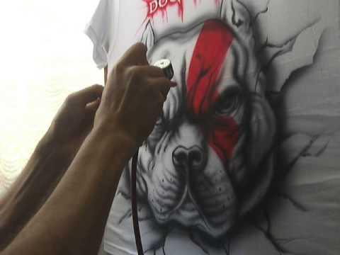 Aerografía en Camiseta - YouTube f05122c636dd7