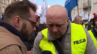 Wielki protest służb mundurowych odbył się w Warszawie | OnetNews