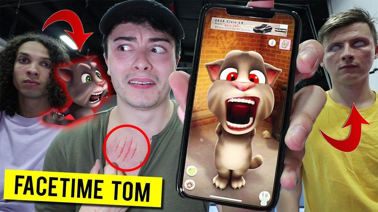 CALLING TALKING TOM ON FACETIME AT 3 AM!! (POSSESSED)