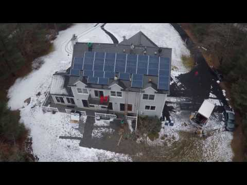 Solar City installation in Acton Massachusetts