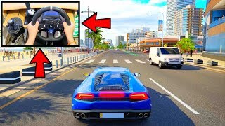 Forza Horizon 3 Driving Lamborghini Huracan LP 610-4 (Steering Wheel + Paddle Shifters) Gameplay