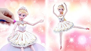 DIY Play Doh BALLERINA Dresses Making for Frozen ELSA Princess 💖 DISNEY DOLL DRESS UP