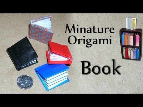 Miniature Origami Book by David Brill