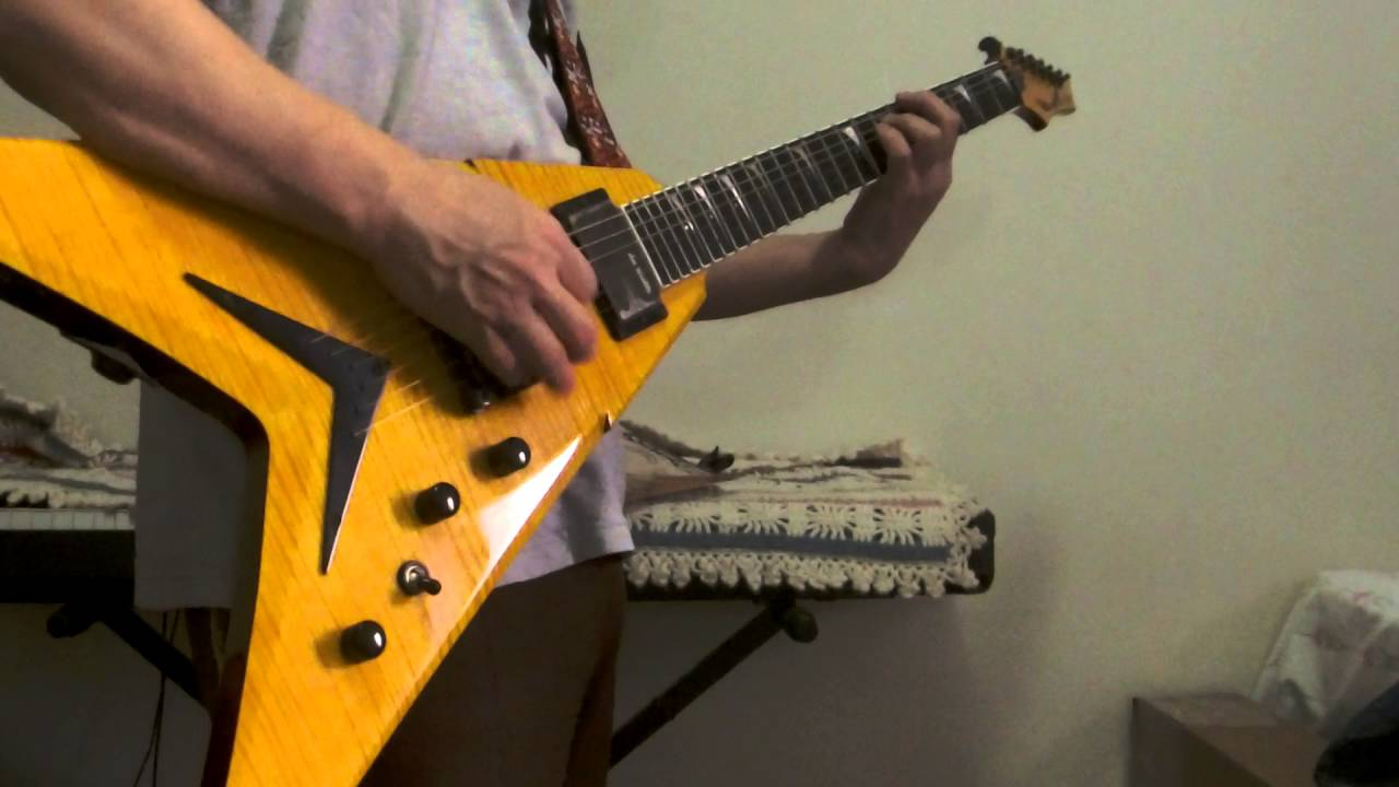 dean dave mustaine signature vmnt limited trans amber guitar demo youtube. Black Bedroom Furniture Sets. Home Design Ideas