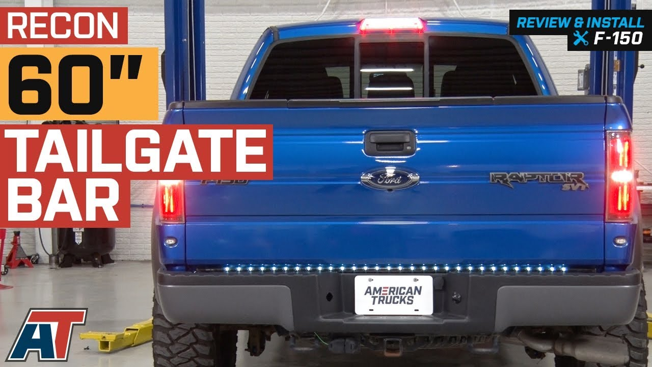 1997 2014 F150 Recon 60 Tailgate Bar W Red Led Brake White Reverse Lights Review Install