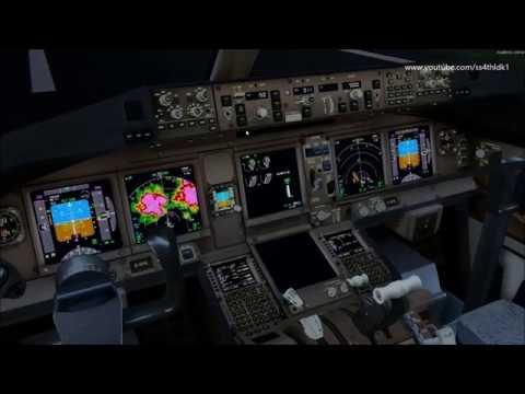 P3D v4 5 PMDG 777 Cathay thunderstorm landing at Hong Kong