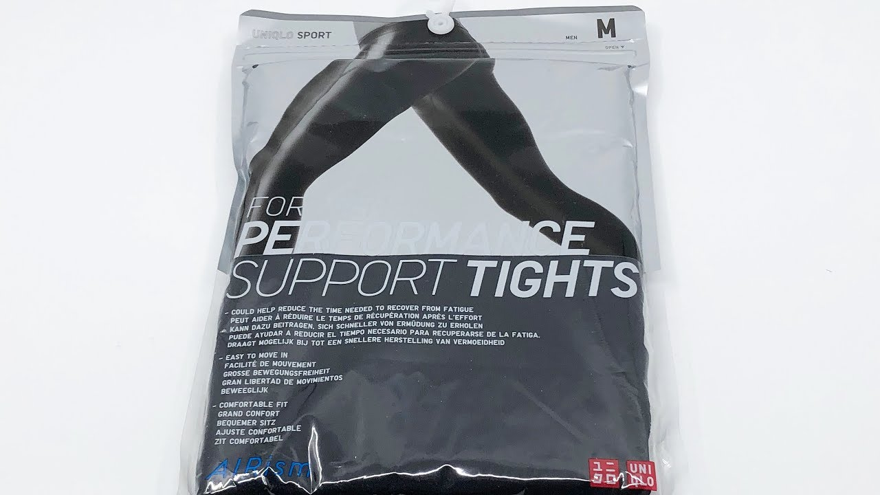 Uniqlo Men Airism Performance Support Tights Black 4k Youtube