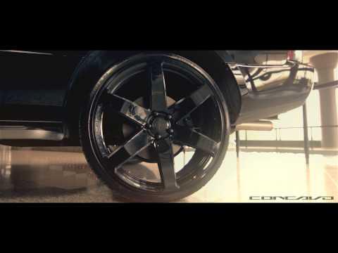 "Range Rover AutoBiography on 24"" Concavo CW-6 Gloss Black Deep Concavo Wheels / Rims TeamConcavo"