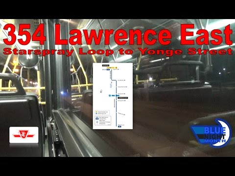 354 Lawrence East - TTC 2004 Orion VII 7525&73 (Starspray Loop to Yonge Street)