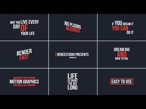 50 Animated Titles — After Effects project | Videohive template ...