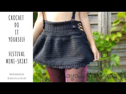 Crochet festival mini skirt DIY 2017
