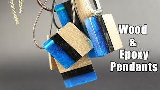 DIY jewelry - epoxy and wood pendants step by step