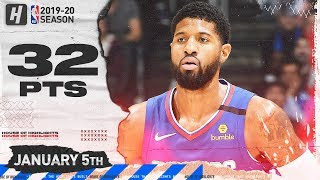 Paul George 32 Points Full Highlights   Knicks vs Clippers   January 5, 2020