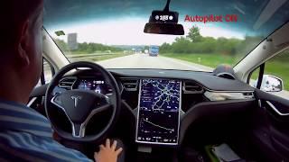 90% Tesla Autopilot im Praxistest (Tesla Model X, AP1) – Timelapse