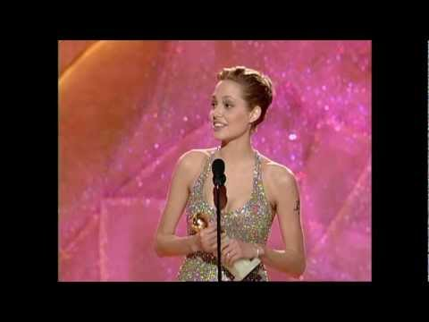 Angelina Jolie Wins Best Actress In A Mini-Series - Golden Globes 1999