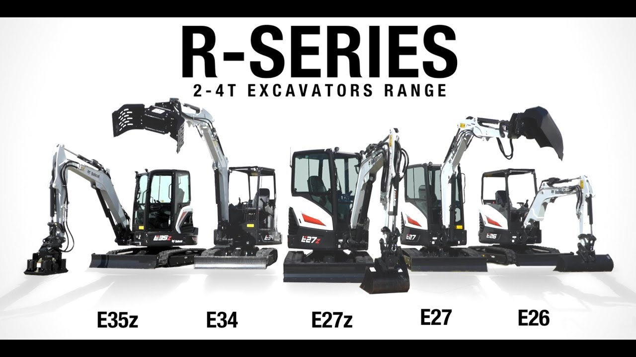 NEW Bobcat R-SERIES, 2-4T Excavators Range