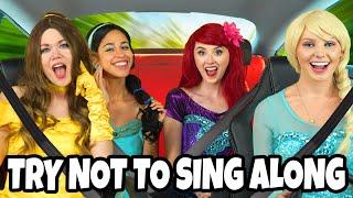 Baixar TRY NOT TO SING ALONG DISNEY PRINCESS CARPOOL KARAOKE WITH FROZEN ELSA, BELLE, ARIEL, JASMINE.