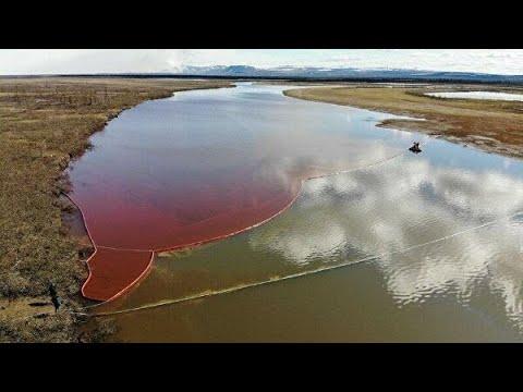 Разлив нефтепродуктов в Норильске. Введен режим ЧС