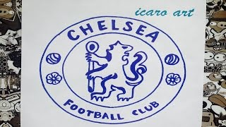 Como dibujar el escudo de chelsea | how to draw chelsea fc logo