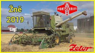 !!! Žně/Żniwa/Harvest/Žatva 2019 !!!   Fortschritt E 514 + Zetor