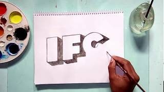 How to draw the IFC tv channel logo