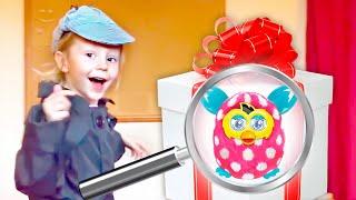 Nastya giả vờ chơi làm thám tử và tìm kiếm đồ chơi