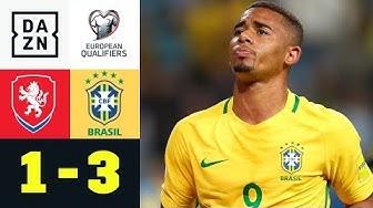 Doppelter Gabriel Jesus erlöst Selecao: Tschechien - Brasilien 1:3 | Testspiel | DAZN Highlights