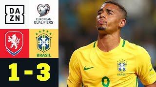 Doppelter Gabriel Jesus erlöst Selecao: Tschechien - Brasilien 1:3   Testspiel   DAZN Highlights
