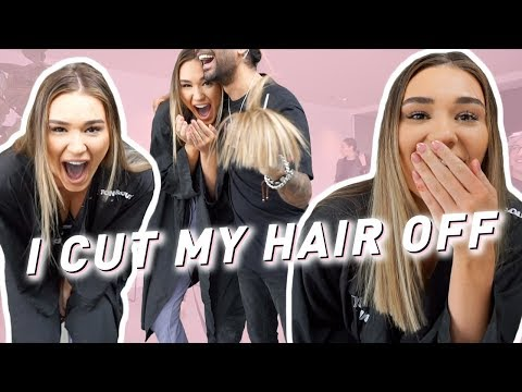 I CUT MY HAIR OFF | VLOG