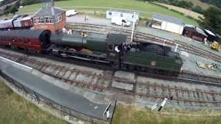 Llangollen Steam Train Carrog Station Aerial Video Uav Drone