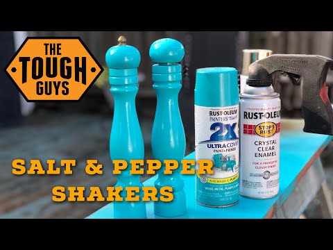 How To Refinish Wood Salt & Pepper Shakers