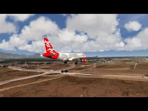 AirAsia A320 landing at Colorado Springs ++ Aerofly FS 2