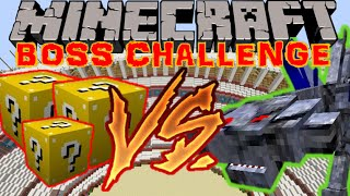 LE DRAGON DE LA MORT !! - BOSS CHALLENGE Minecraft [FR] [HD]