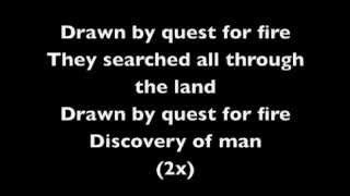 quest for fire by iron maiden lyrics