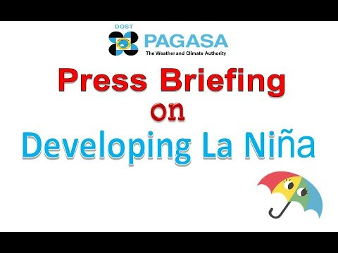 DOST-PAGASA: Press briefing on developing La Niña November 22, 2017
