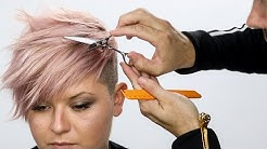 Pixie Haircut Tutorial Plus Bonus Pink Hair Color How To